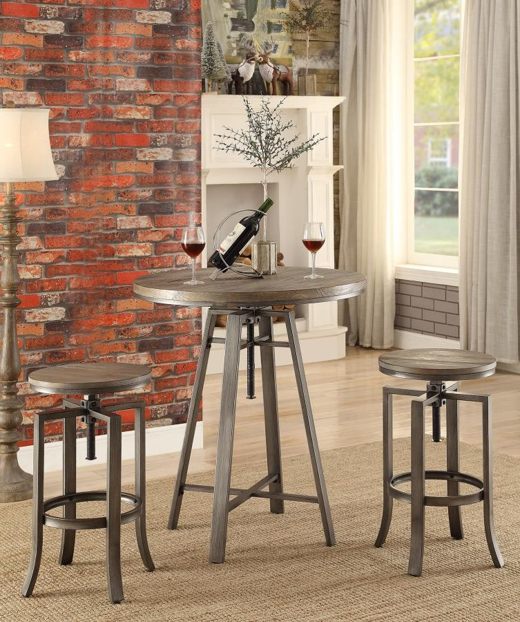 ... Industrial Walnut Adjustable Bar Stool (. Click To Expand. REC