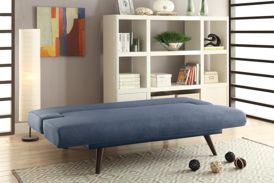 LIVING ROOM : SOFA BEDS - Mid-Century Modern Grey Adjustable Sofa Bed