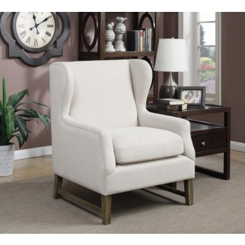 ACCENTS : CHAIRS - Traditional Cream Accent Chair