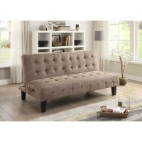 LIVING ROOM : SOFA BEDS - Taupe Sofa Bed with USB and Power Ports