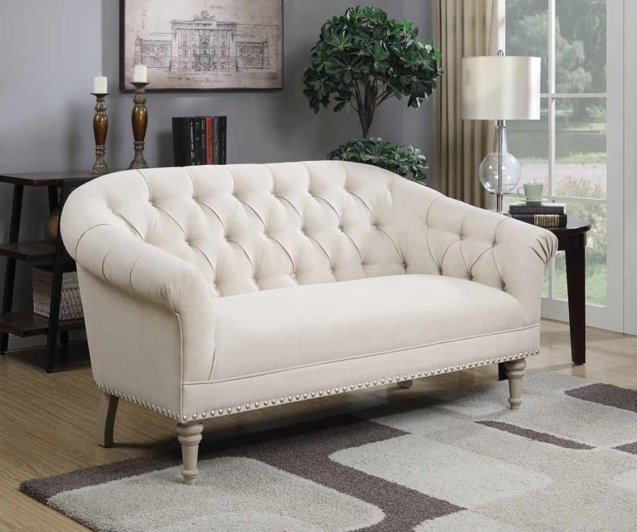Furniture Factory Outlet: Traditional Natural Linen Settee