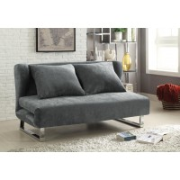 LIVING ROOM : SOFA BEDS - Transitional Grey Sofa Bed