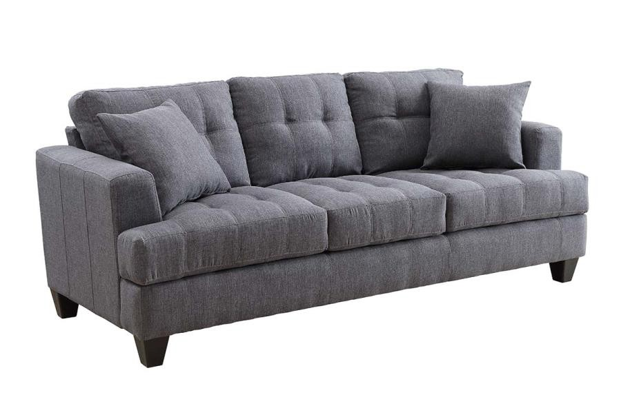 SAMUEL COLLECTION - Samuel Transitional Charcoal Sofa