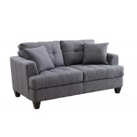 SAMUEL COLLECTION - Samuel Transitional Charcoal Loveseat