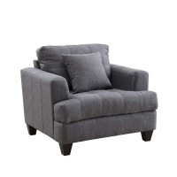 SAMUEL COLLECTION - Samuel Transitional Charcoal Chair