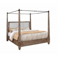 MADELEINE COLLECTION -  Madeline Rustic Smokey Acacia Queen Bed