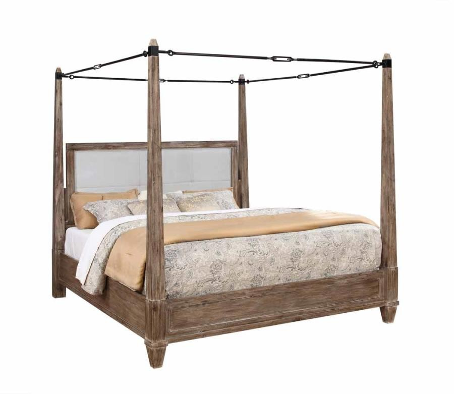 MADELEINE COLLECTION -  Madeline Rustic Smokey Acacia Eastern King Bed