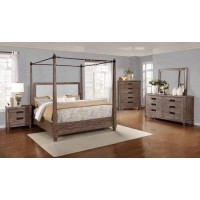 MADELEINE COLLECTION -  Madeline Rustic Smokey Acacia California King Bed
