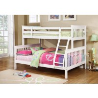 CHAPMAN COLLECTION - Chapman Transitional White Twin-over-Full Bunk Bed