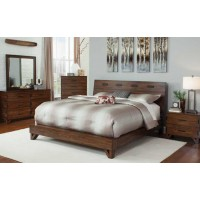 YORKSHIRE COLLECTION - Yorkshire Contemporary Dark Amber and Coffee Bean Queen Bed