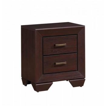 FENBROOK COLLECTION - Fenbrook Dark Cocoa Two-Drawer Nightstand