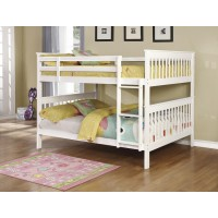 CHAPMAN COLLECTION - Chapman Traditional White Full-over-Full Bunk Bed