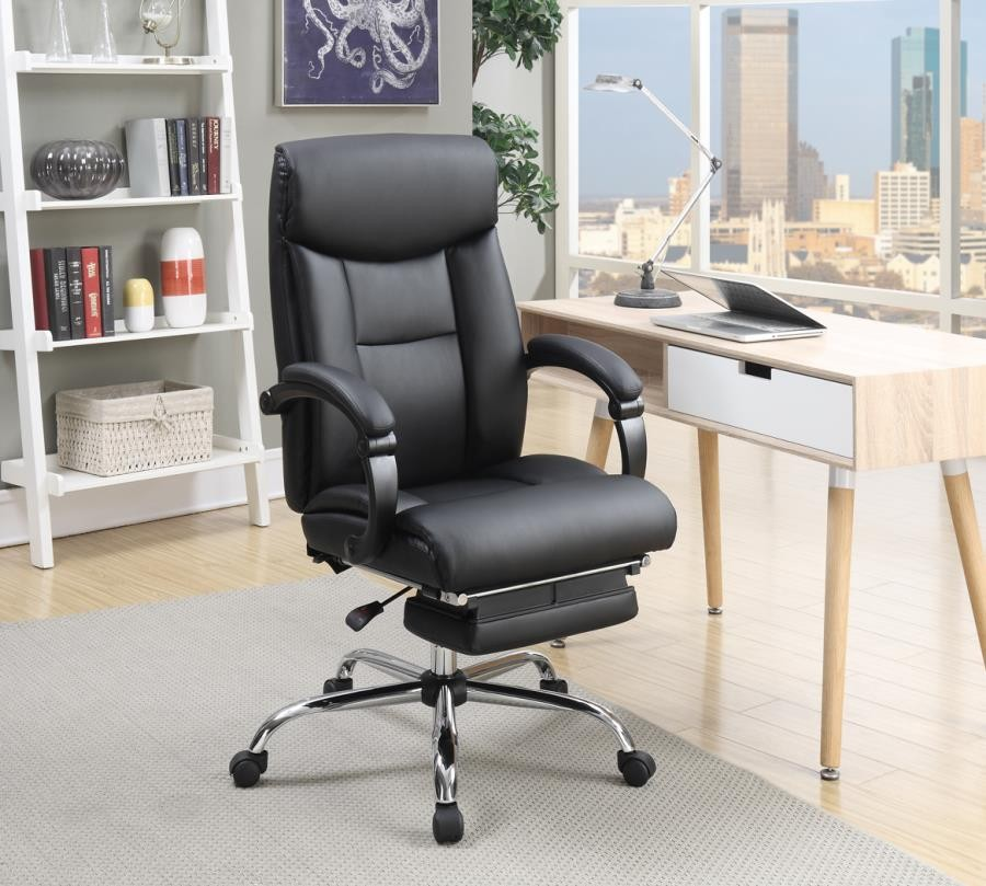 Hom Office Furniture: Transitional Chrome Office Chair