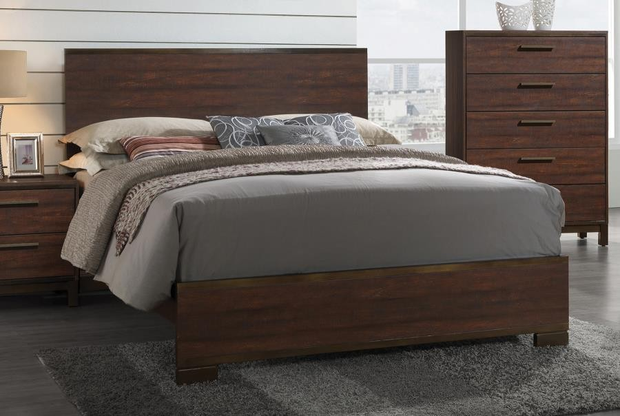 EDMONTON COLLECTION - Edmonton Transitional Rustic Tobacco Eastern King Bed