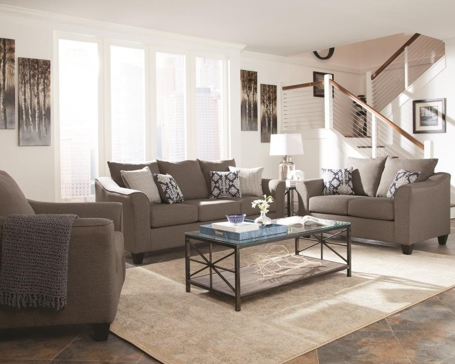 SALIZAR COLLECTION - Salizar Transitional Grey Sofa
