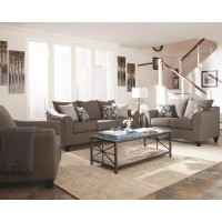 SALIZAR COLLECTION - Salizar Transitional Grey Loveseat