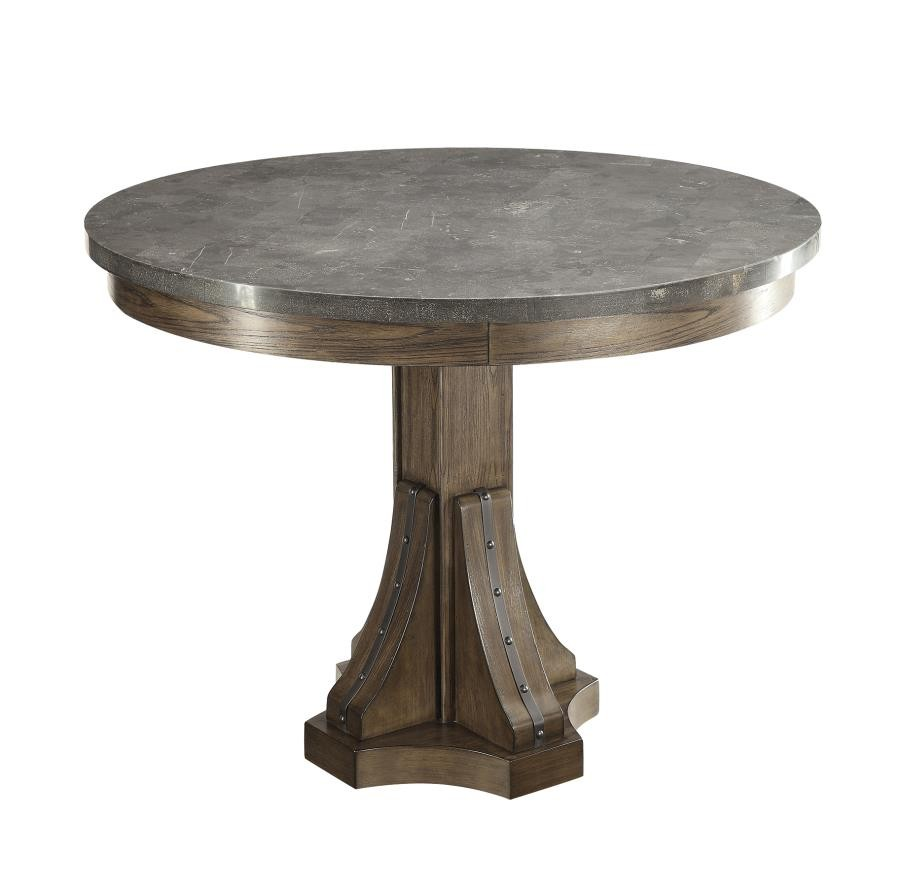 WILLOWBROOK COLLECTION - Willowbrook Rustic Chinese Ash Round Dining Table