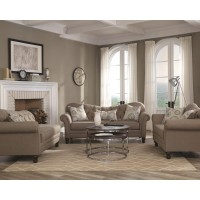 CARNAHAN COLLECTION - Carnahan Traditional Stone Grey Chaise