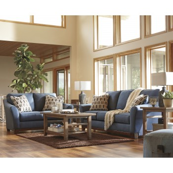 Janley - Denim - Sofa & Loveseat