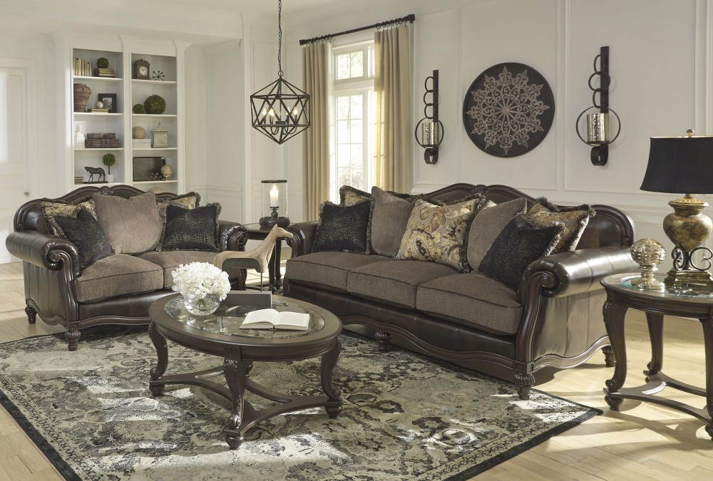 Winnsboro Durablend Vintage Sofa Loveseat Leather Living