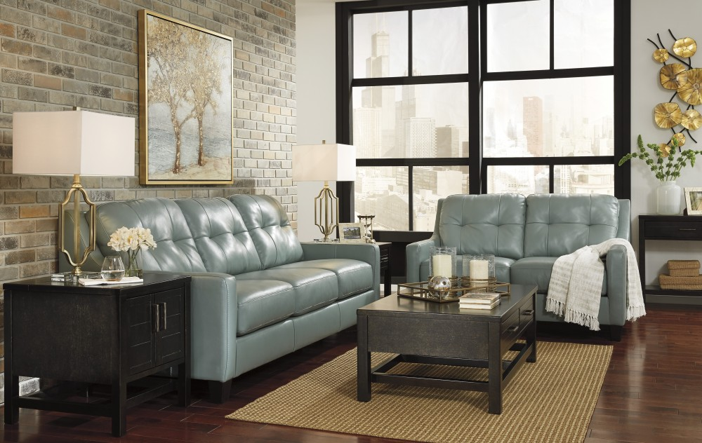 O'Kean - Sky - Sofa & Loveseat