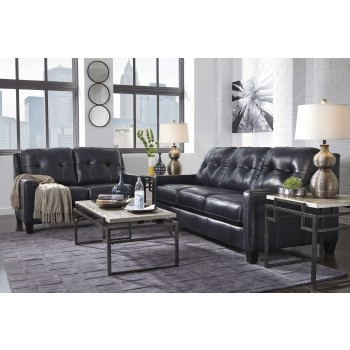 O'Kean - Navy - Sofa & Loveseat