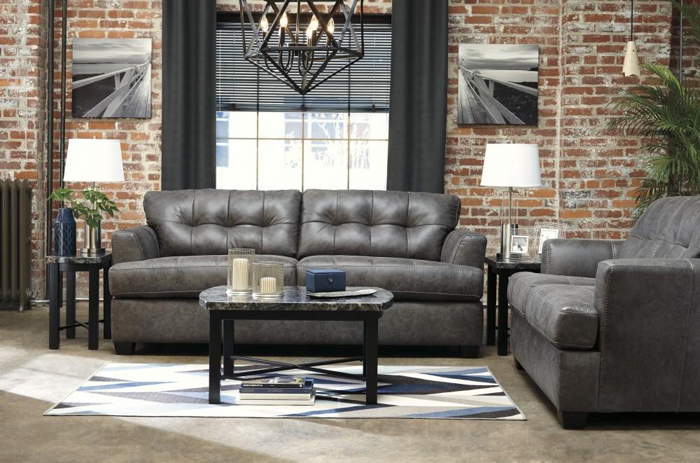 Inmon - Charcoal - Sofa & Loveseat