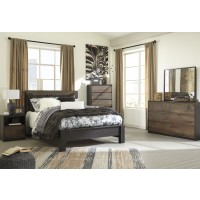 Windlore 5 Pc. Bedroom - Dresser, Mirror & Queen Panel Bed