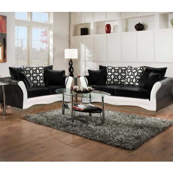 Black And White Sofa And Love Living Room Set 8000 Black And White Living Room Sets Price