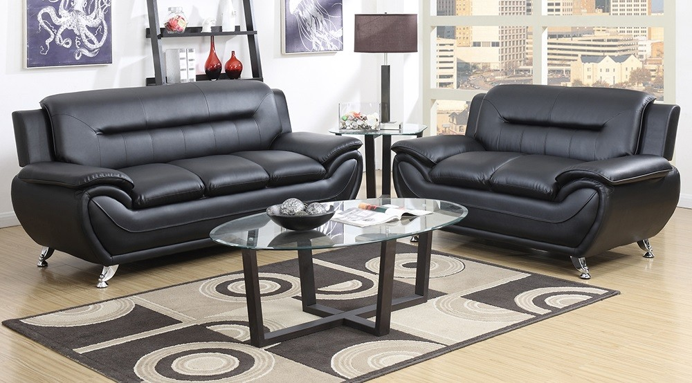 Black sofa and love awesome deal gtu 2701 black living - Living room sets for cheap prices ...