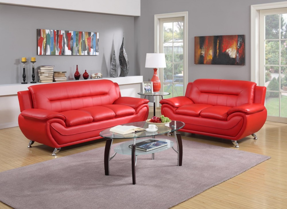 Red Sofa and Love Awesome Deal | GTU 2703 Red | Living Room Sets ...