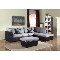 Gray Two Piece Sectional