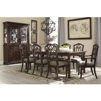 Leahlyn - RECT Dining Room EXT Table, 6 UPH Side Chairs & 2 UPH Arm Chairs