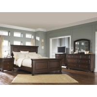 Porter Colection 6Pc set incl qn panel bed, drs, mir & ns