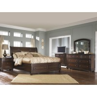 Porter Collection 6Pc Qn sleigh bed, drs, mir & ns