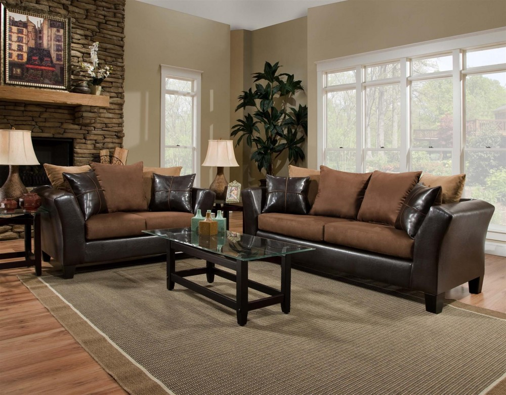 Sierra 4170 Chocolate Sofa and Loveseat