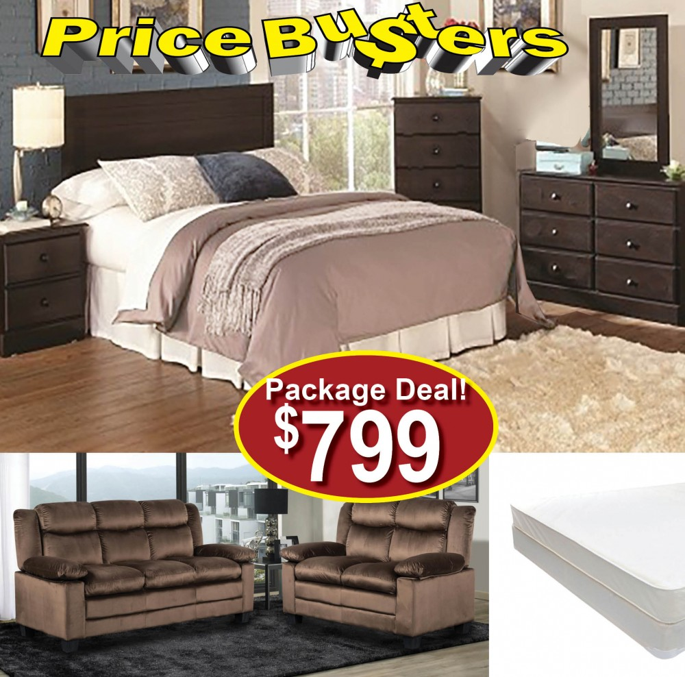 Furniture package 33 package 33 bedroom packages price busters furniture for Cheap bedroom furniture packages