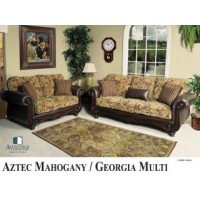 Aztec Mahogany Living Room Group