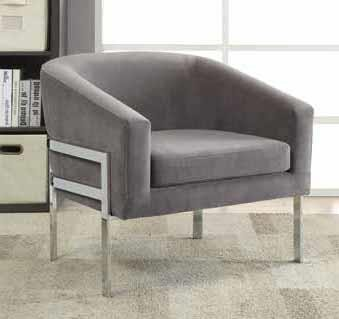 ACCENTS : CHAIRS - Contemporary Grey Accent Chair