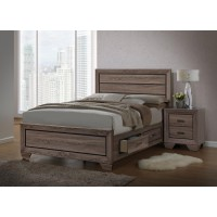 KAUFFMAN COLLECTION  - Kauffman Transitional Washed Taupe Queen Bed