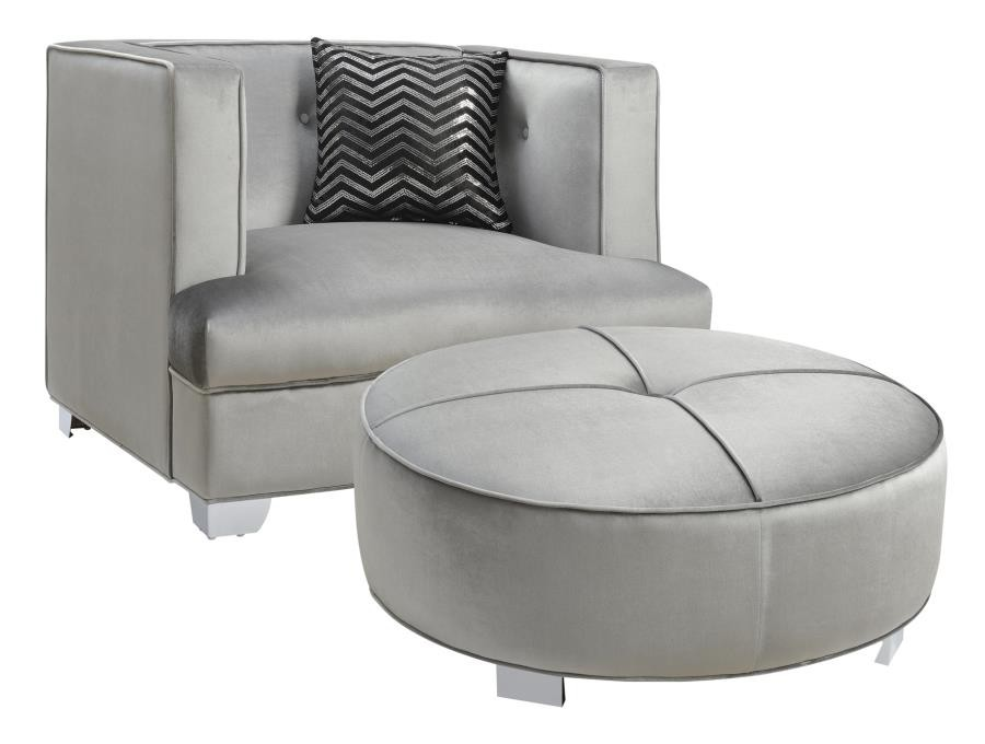 BLING GAME LIVING ROOM COLLECTION - Bling Game Living Room Ottoman