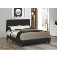 MAUVE UPHOLSTERED BED - Mauve Upholstered Platform Black Full Bed