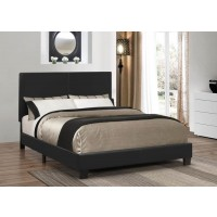 MAUVE UPHOLSTERED BED - Mauve Upholstered Platform Black Queen Bed