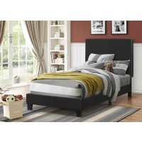 MAUVE UPHOLSTERED BED - Mauve Upholstered Platform Black Twin Bed