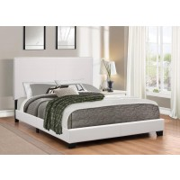 MAUVE UPHOLSTERED BED - Mauve Upholstered Platform White Queen Bed