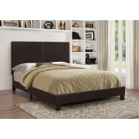 MAUVE UPHOLSTERED BED - Mauve Upholstered Platform Brown Full Bed