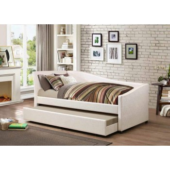 TWIN DAYBED WITH TRUNDLE - Hollywood Glam Ivory Daybed