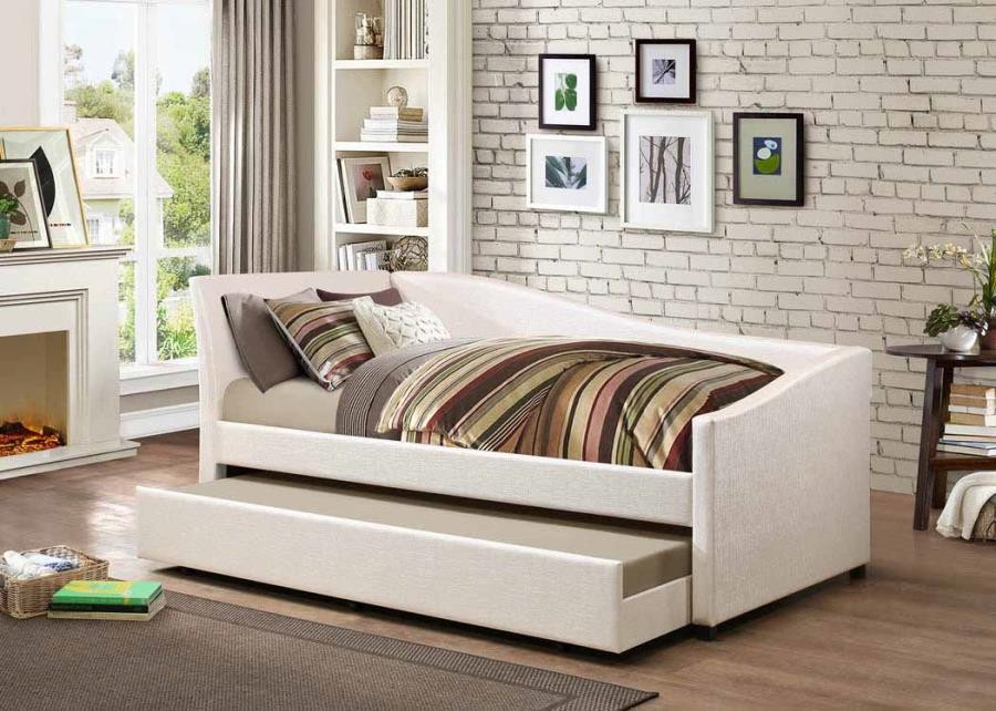 TWIN DAYBED - Hollywood Glam Ivory Daybed