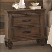 FRANCO COLLECTION - Franco Two-Drawer Nightstand With Tray