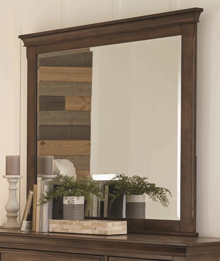 FRANCO COLLECTION - Franco Burnished Oak Dresser Mirror